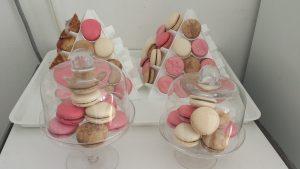 Macaron_Baptême_Rose_Blanc